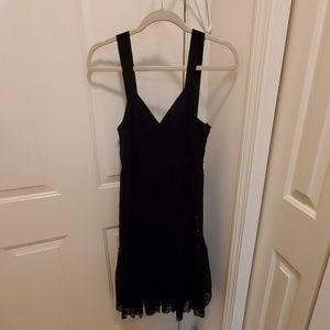 DKNY black baby doll laces dress